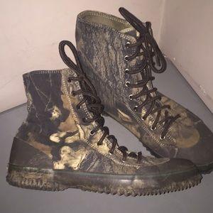 Cabellas camouflage Camo shoes Sz 11 high top